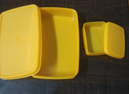 Best Tiffin Ware Plastic Flat Lunch Box, Shape: Rectangular