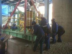Stainless Steel Steam Turbine Erection, On Site