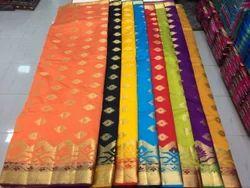 Festive Wear Cotton Silk Sarees, 5.5 M (separate Blouse Piece