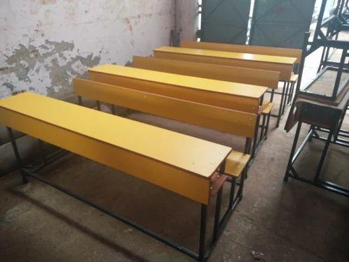 college furniture student desk 4 seater manufacturer from new delhi. Black Bedroom Furniture Sets. Home Design Ideas