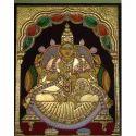 Wooden (frame) Maha Lakshmi Tanjore Painting