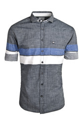 Grey Urban Design Casual Shirts