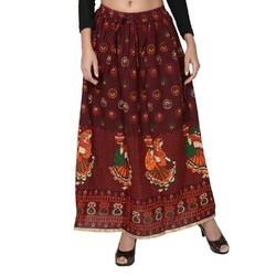 Jodhpuri Print Skirt