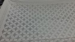 Handmade Applique Whiter Bed Cover