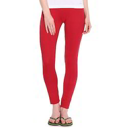 Red Straight Fit Lycra Ladies Legging