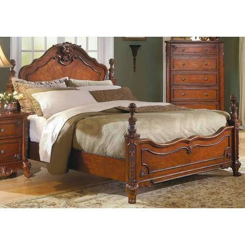 Antique Wooden Double Bed