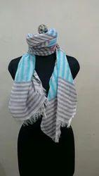 Blue Cotton Scarves