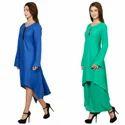 Blue and Green Women Kurtis