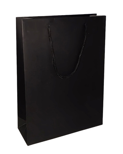Paper Bag Solid - Black