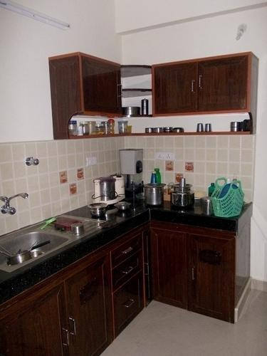 PVC L Shaped Kitchen Cabinet