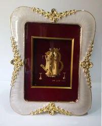 Radha Krishna Gold Leaf Frame