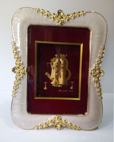 Radha Krishna Gold Leaf Frame At Rs 1200 Pieces Kalbadevi