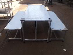 Silver Rectangular Stainless Steel Tables