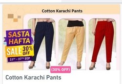 Women Cotton Karachi Pants
