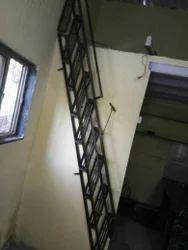 Black Iron Folding Staircase