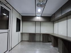 Stainless Steel Black Office Cabins