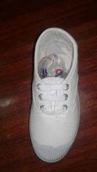 White cloth school shoes