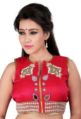 6775412492d78c Embroidered Banglori Silk Blouse