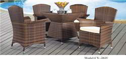 Global Corporation Brown Rattan Furniture