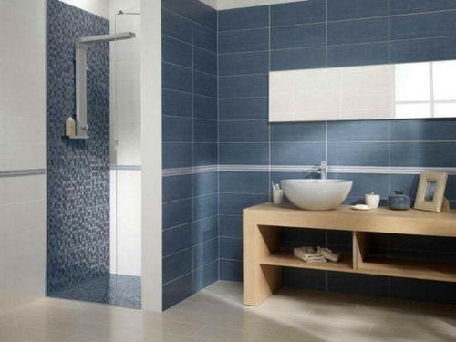 Beautiful How To Design Small Bathroom With Hexagon Tiles And Mosaic Quote