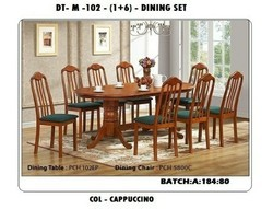 Visiotronics 6 Chair 1table Wooden Dining Table Set, For Home