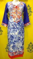 Embroidered Rayon Kurti
