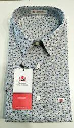 Muscsri Men's Cotton Printed Half Sleeve Formal Shirt