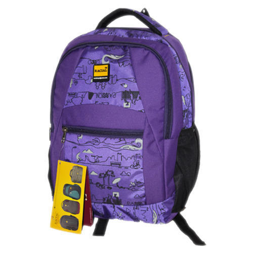 de4fe0849530 Polyester Purple School Bag