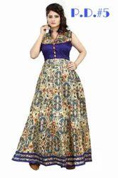 Bhaghalpuri Printed Designer Gown