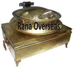 Brass Hammered Hydraulic Chafing Dishes