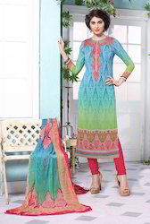 Multicolor Georgette Salwar Suit
