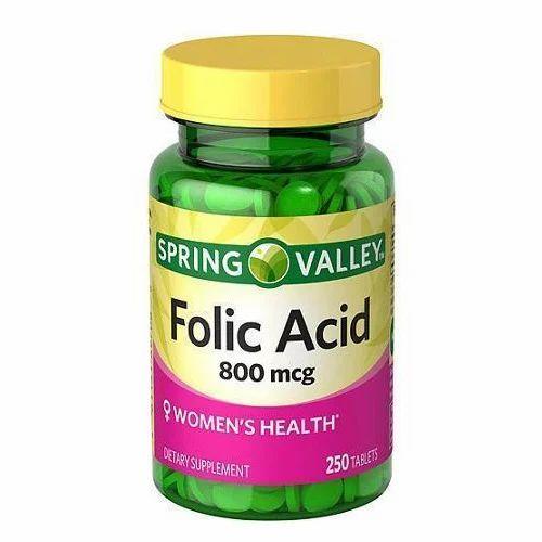 Folic Acid 800 mcg Tablets, Packaging Type: Bottle, Prescription