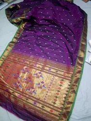 Silk Yeola,pure handloom paithani- Yeola Paithani Saree, With Blouse Piece ,Hand Made