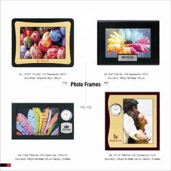 Coloured Plastic And Wooden Photo Frame
