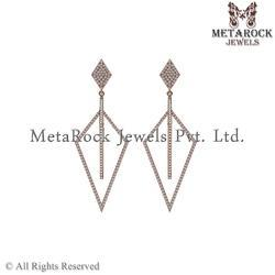 Latest Design Pave Diamond Rose Gold Earring