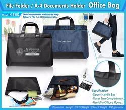 Blue Polyurethane Office Bag For Corporate Gifting, Capacity: Half Kg