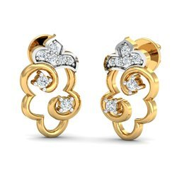 14k Diamond Earring