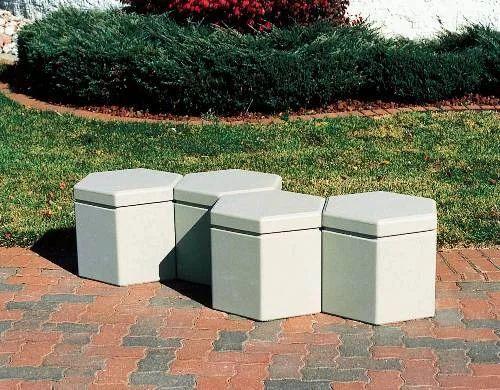 Hexagon Concrete Stool