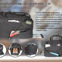 11 Pocket Premium Duffel Bag With Stroler