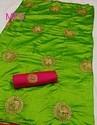 Elephant Golden Embroidery Silks Sarees