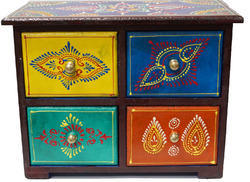 Wood Hand Painted Drawer