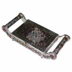White Metal Tray