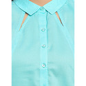 Aqua Blue Sleevless Shirt