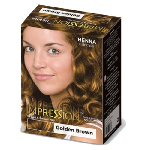 Golden Brown Hair Color For Parlour Impression Cosmetics Id