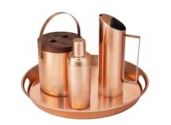 Copper Bar Set With Tray