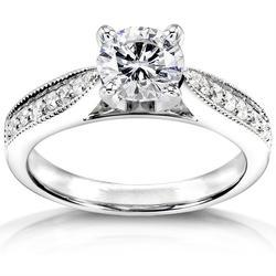 Stunning Real Natural 1.00Ct Diamond Ring