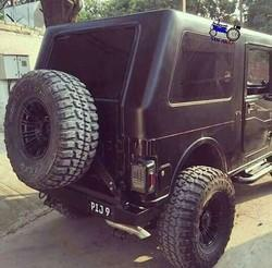 Mahindra Mat black thar hard top cars