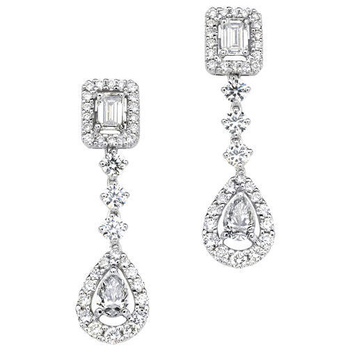 with product gold from diamonds earings jewellery girls baguette earrings diamond for wholeseller detail