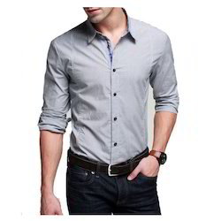 Men's Linen Full Sleeves Collar Neck Formal Shirt