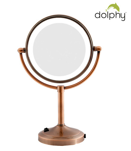 Dolphy Led Magnifying Tabletop Mirror For Hotel And Household Rs